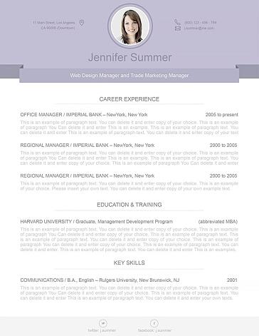Modern Resume Template 110490