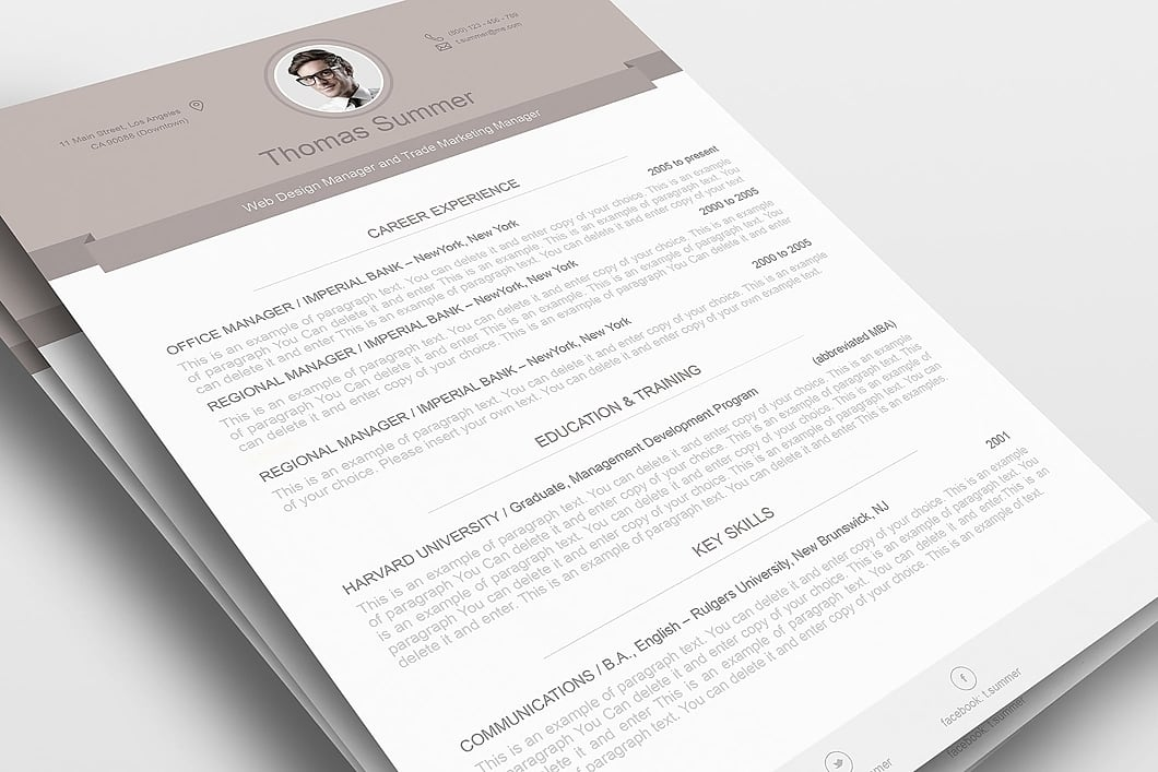 Modern Resume Template 110500 1
