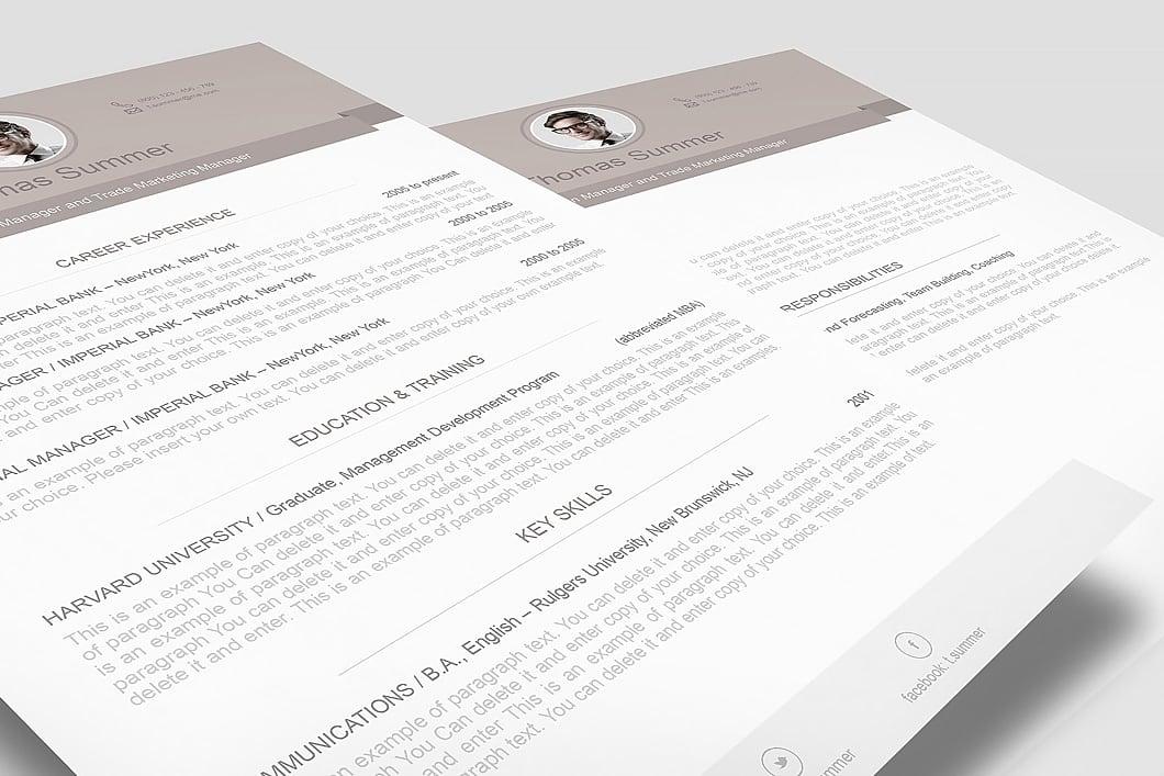 Modern Resume Template 110500 3