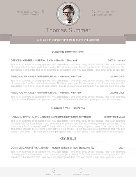 Modern Resume Template 110500