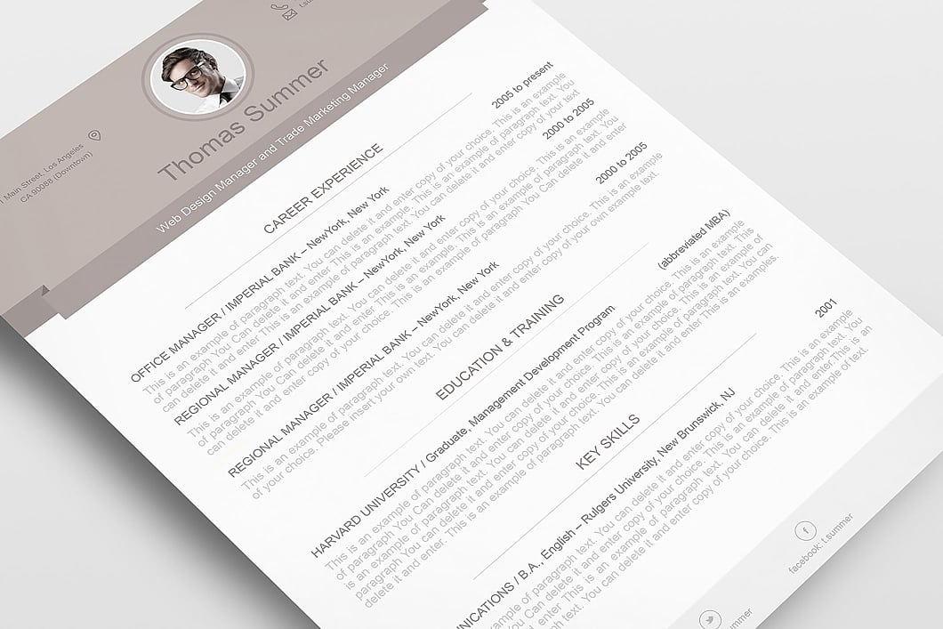 Modern Resume Template 110500 5