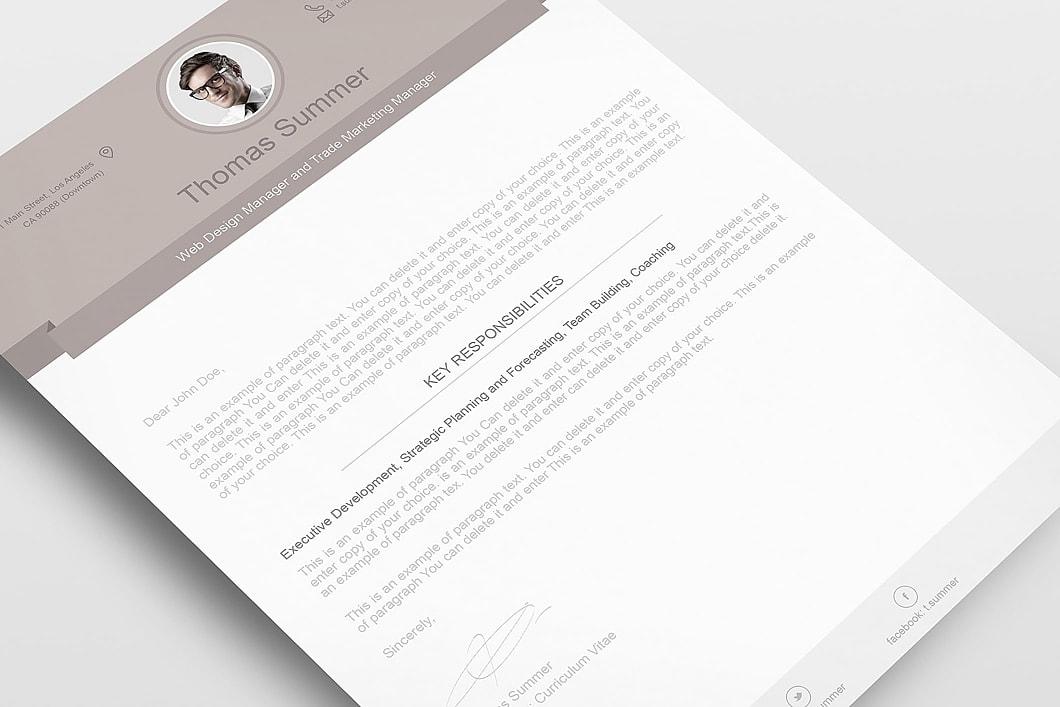 Modern Resume Template 110500 6