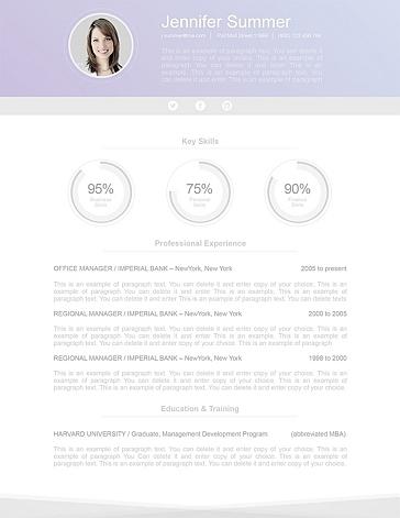 Modern Resume Template 110640