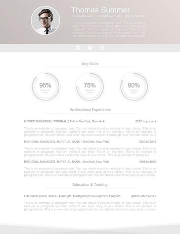 Modern Resume Template 110650
