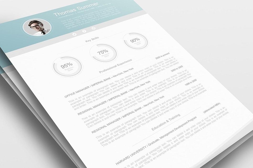 Modern Resume Template 110660 0
