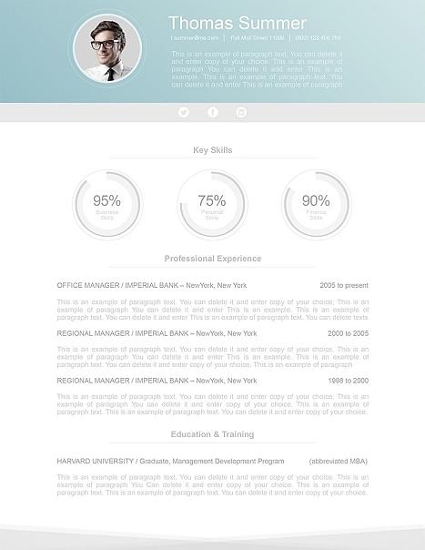 Modern Resume Template 110660