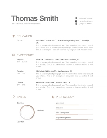 Modern Resume Template 110790