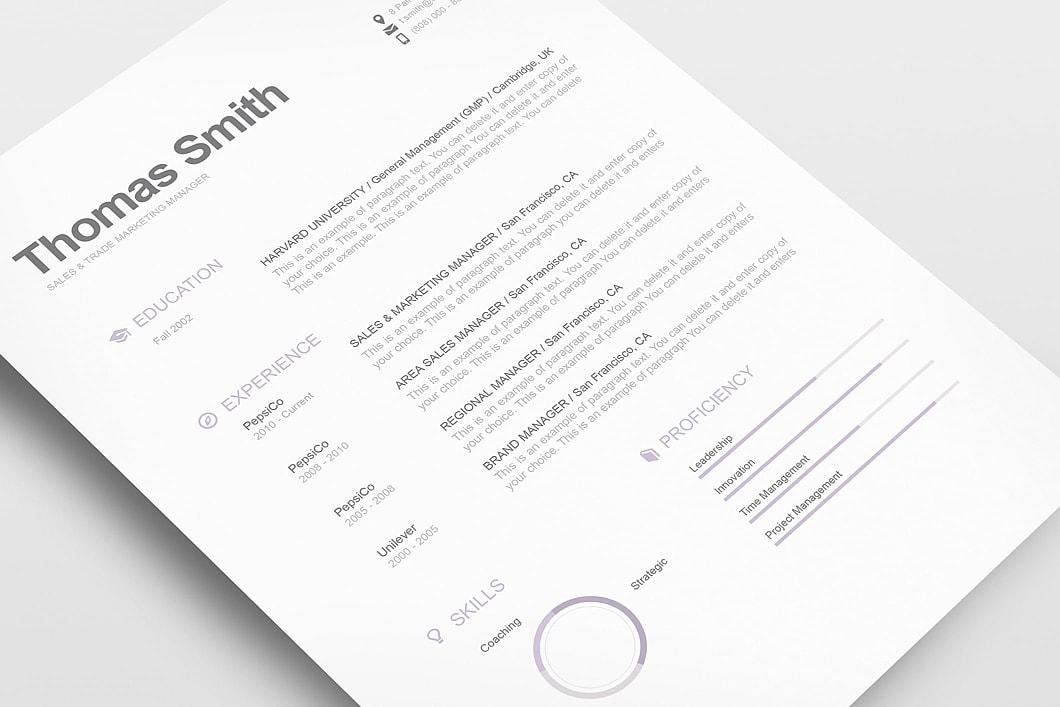 Modern Resume Template 110800 3