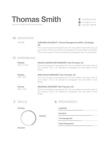 Modern Resume Template 110800