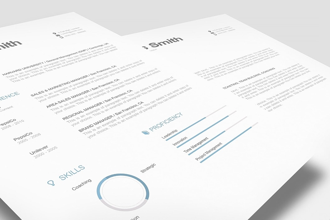Modern Resume Template 110810 1