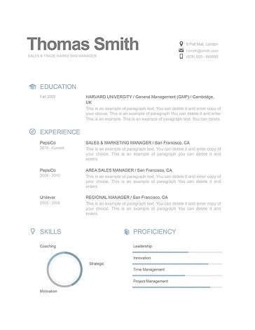 Modern Resume Template 110810