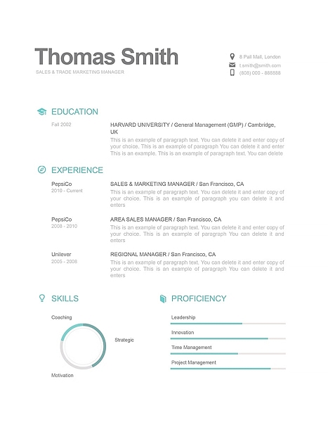Modern Resume Template 110820