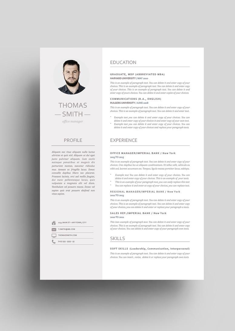 Modern Resume Template 110960