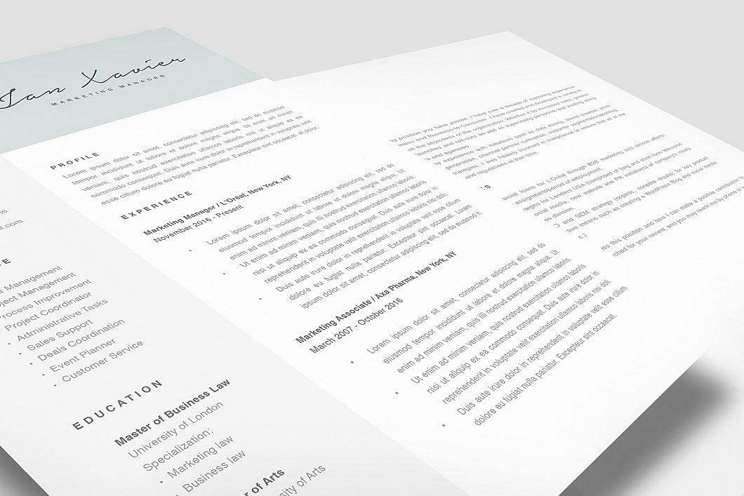 Modern Resume Template 120070 2