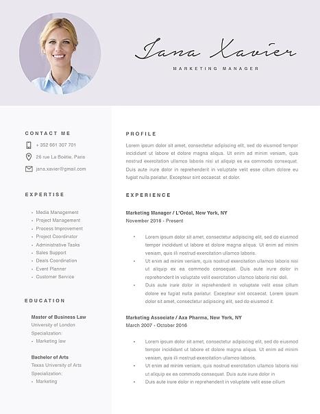 Modern Resume Template 120090