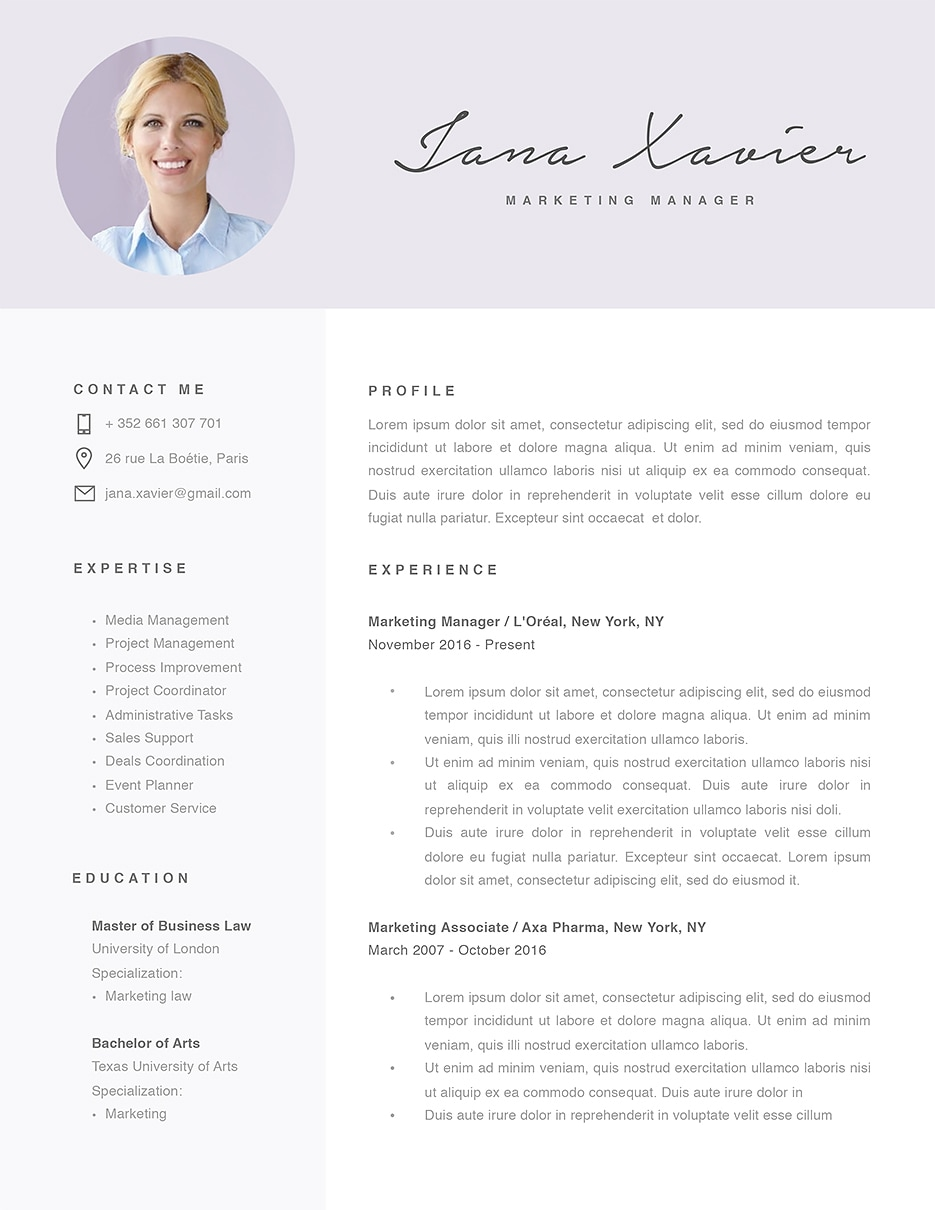 Modern Resume Template 120090 Templates By Resumeway