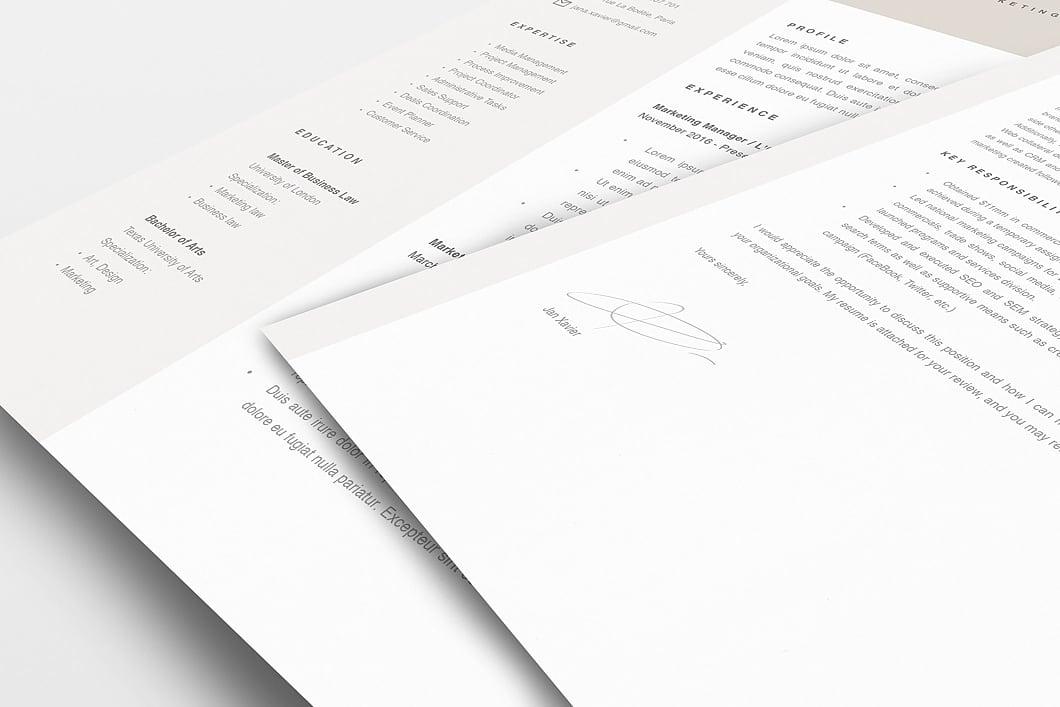 Modern Resume Template 120100 5