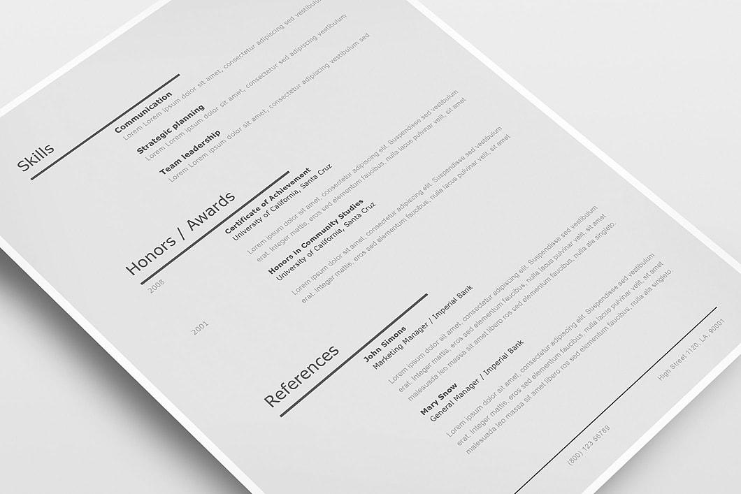 Modern Resume Template 120230 3
