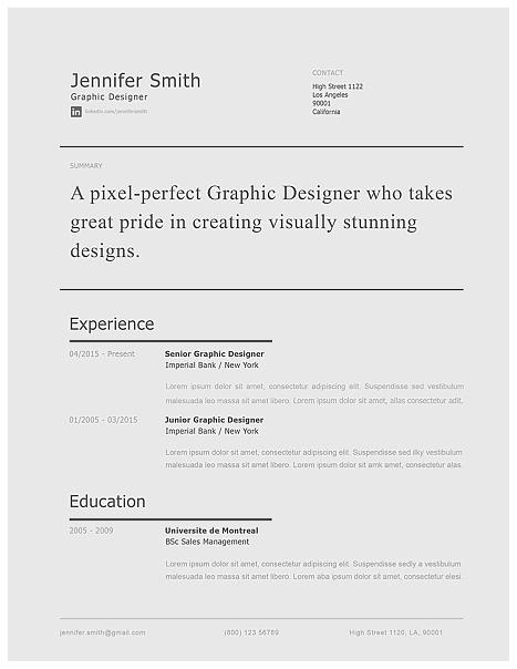 Modern Resume Template 120230