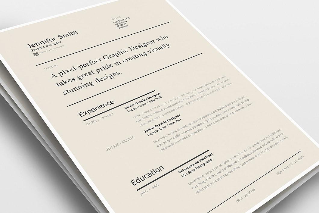 Modern Resume Template 120240 2