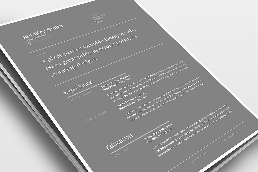 Modern Resume Template 120260 0