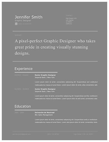 Modern Resume Template 120260