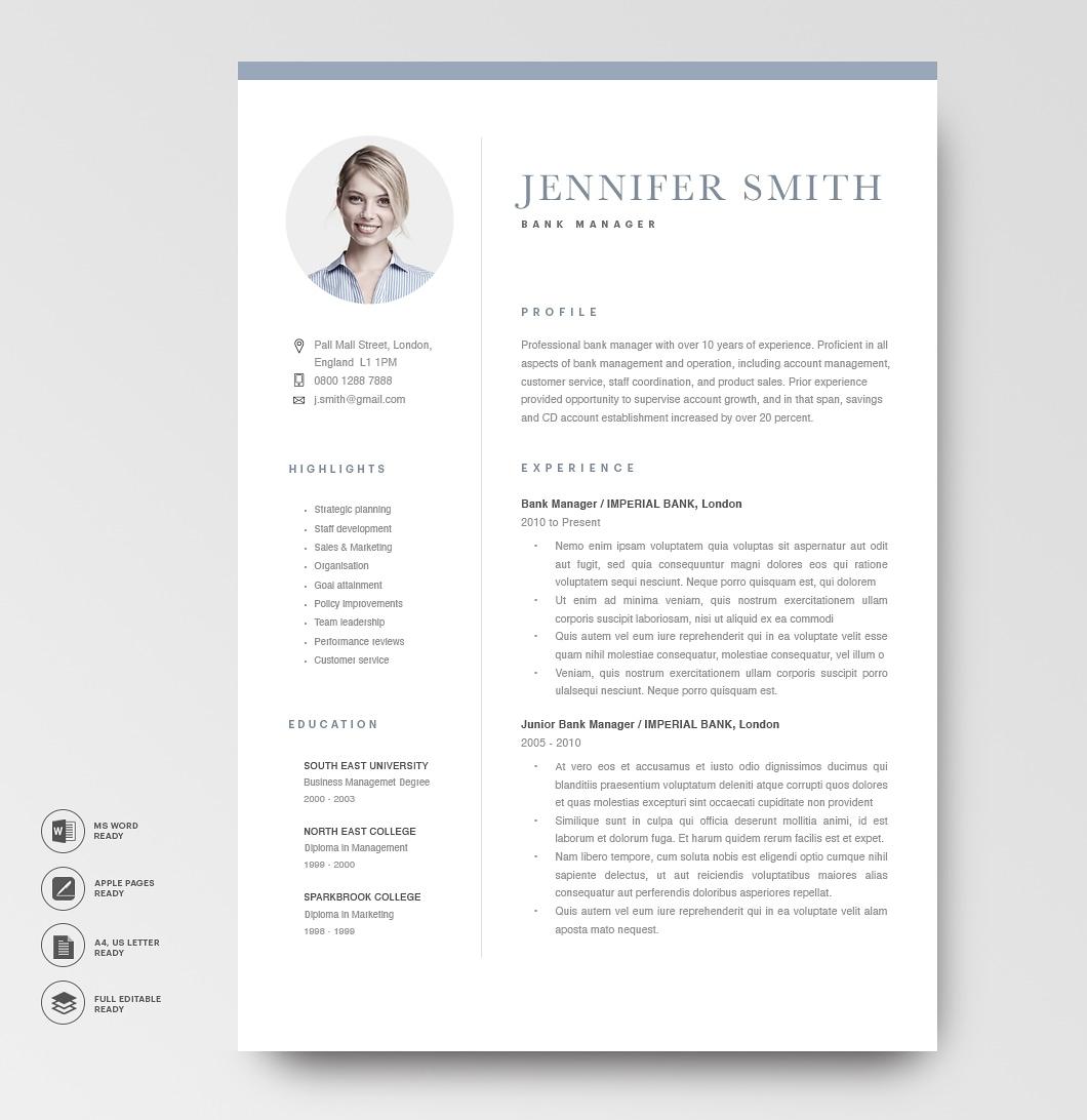 Modern Resume Template 120270