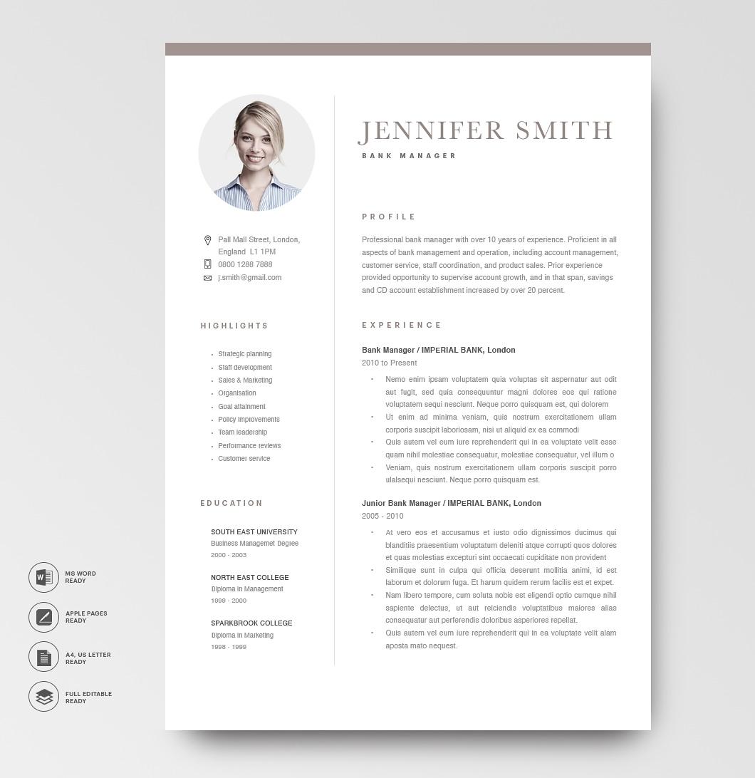 Modern Resume Template 120280