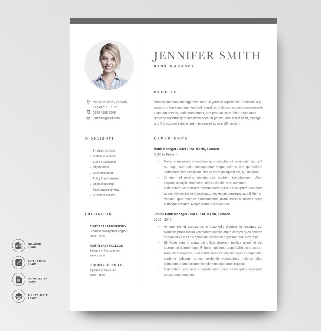 Modern Resume Template 120290