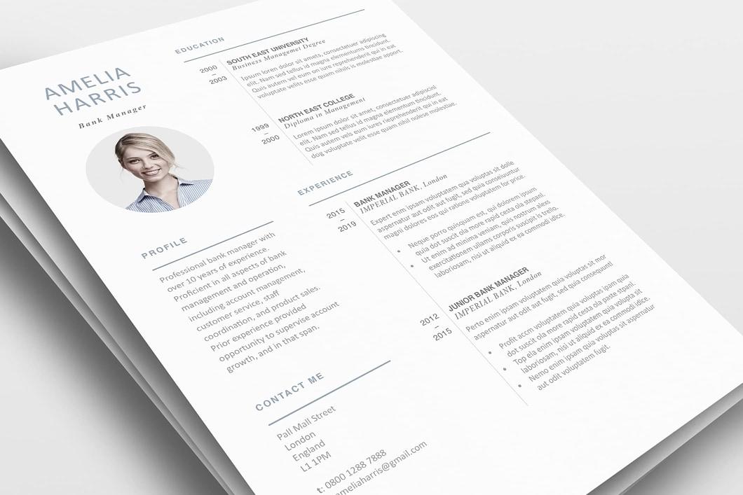 Modern Resume Template 120430 0