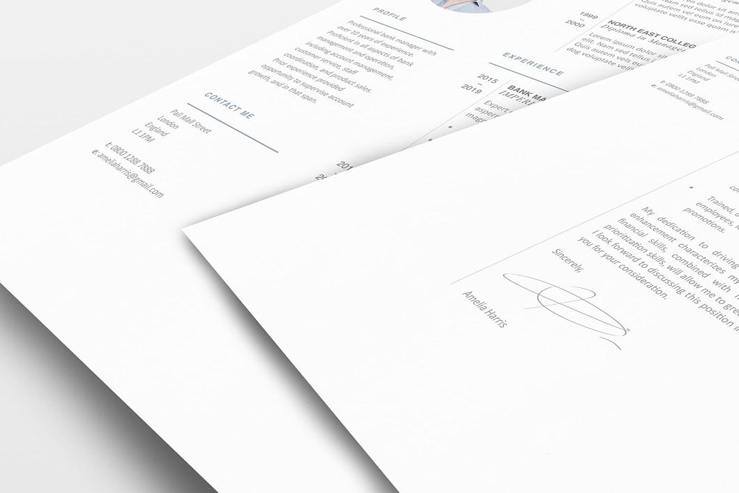Modern Resume Template 120430 2