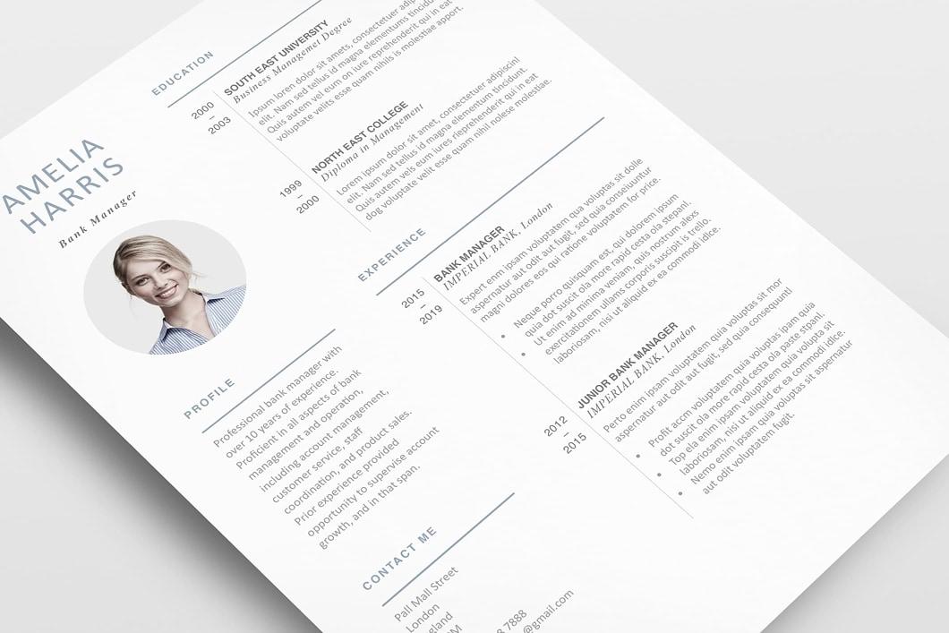 Modern Resume Template 120430 4