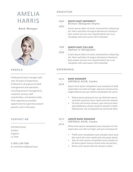 Modern Resume Template 120430