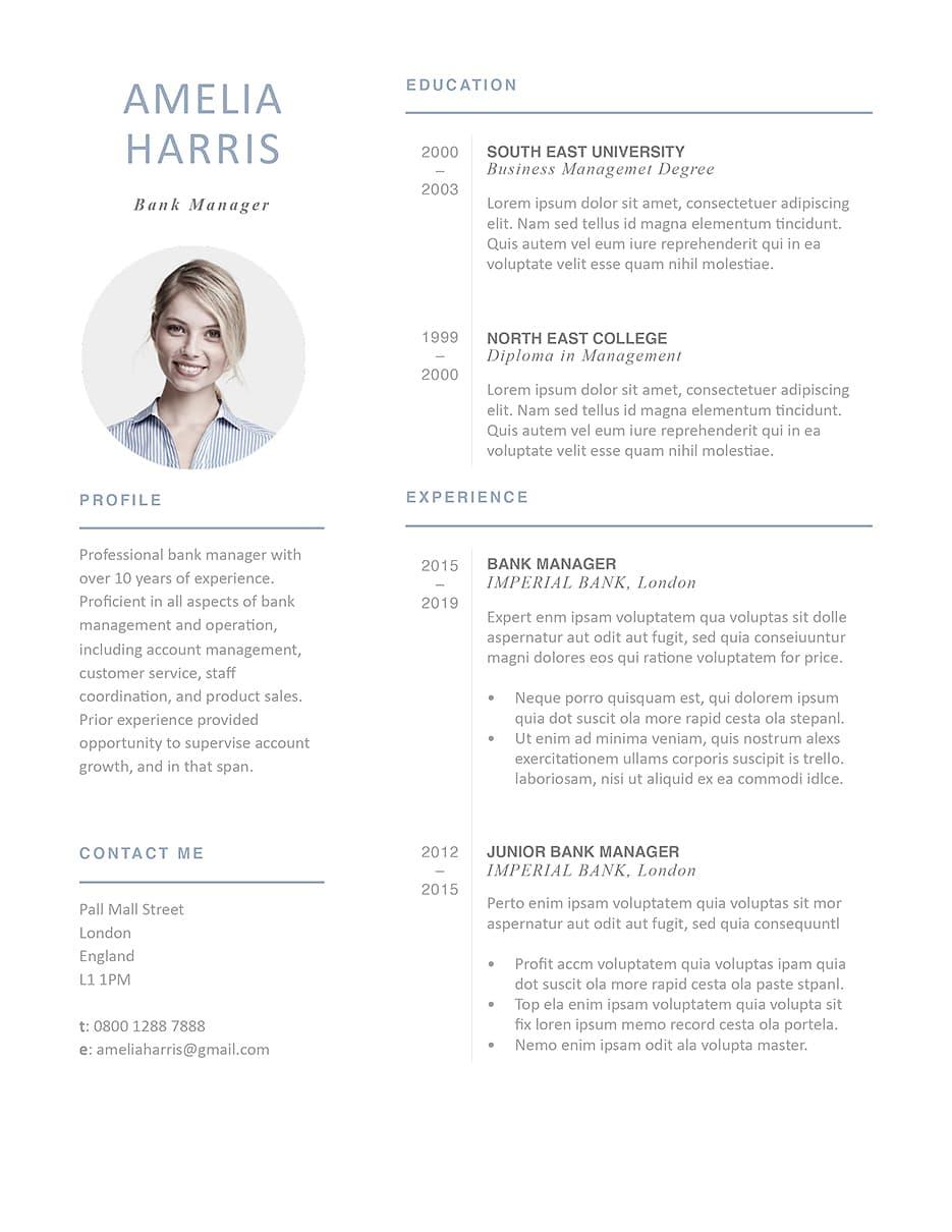 Modern Resume Template 120430 Resumeway