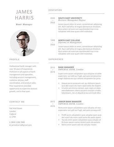Modern Resume Template 120440