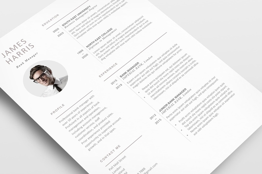 Modern Resume Template 120440 4