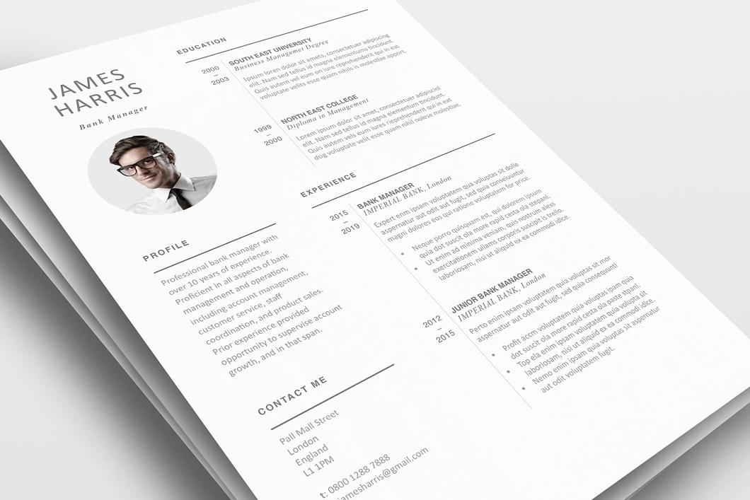 Modern Resume Template 120450 0