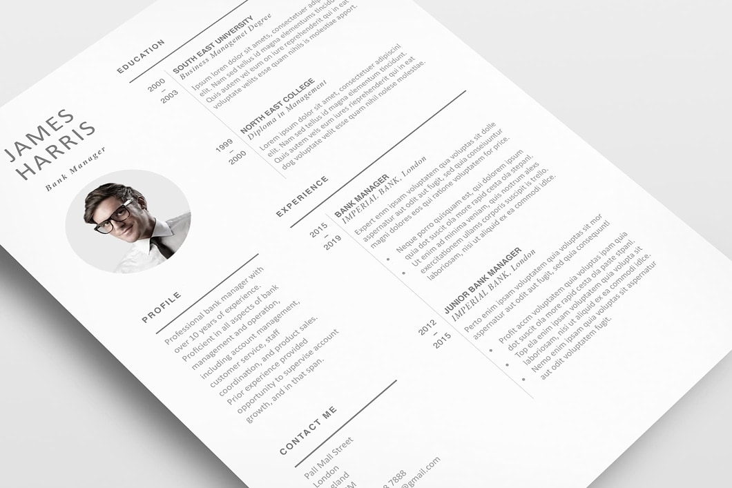 Modern Resume Template 120450 4