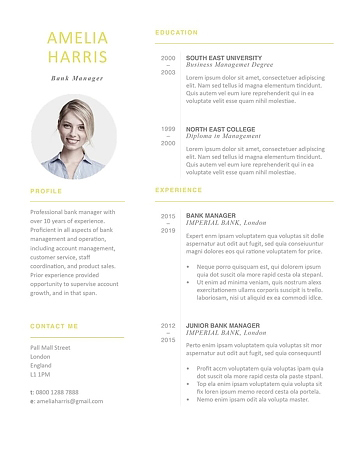 Modern Resume Template 120460