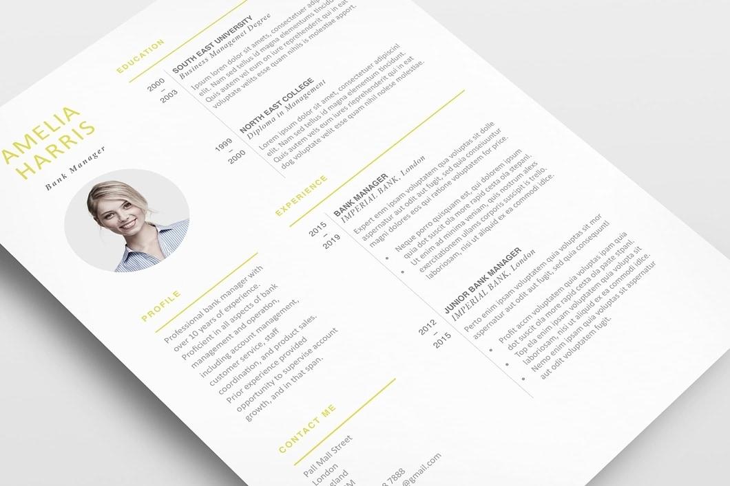 Modern Resume Template 120460 4