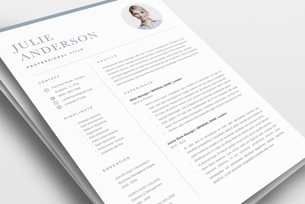 Modern Resume Template 120510 0
