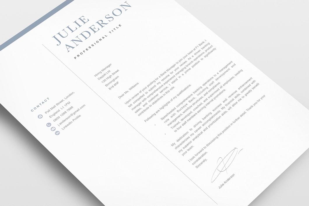Modern Resume Template 120510 3