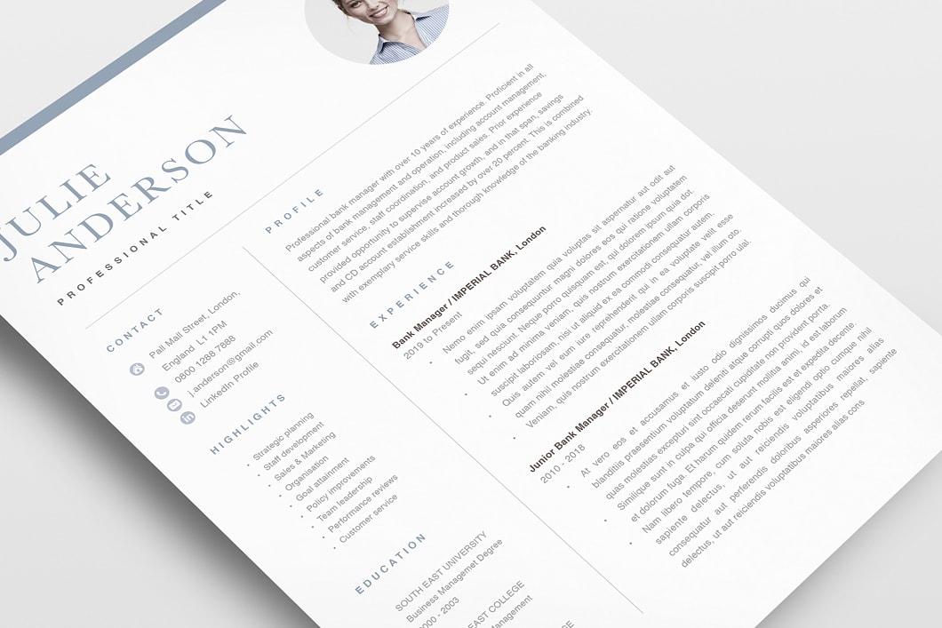 Modern Resume Template 120510 4