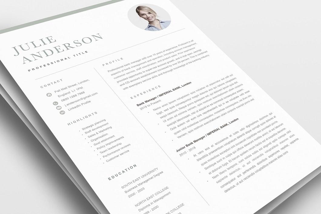 Modern Resume Template 120520 0