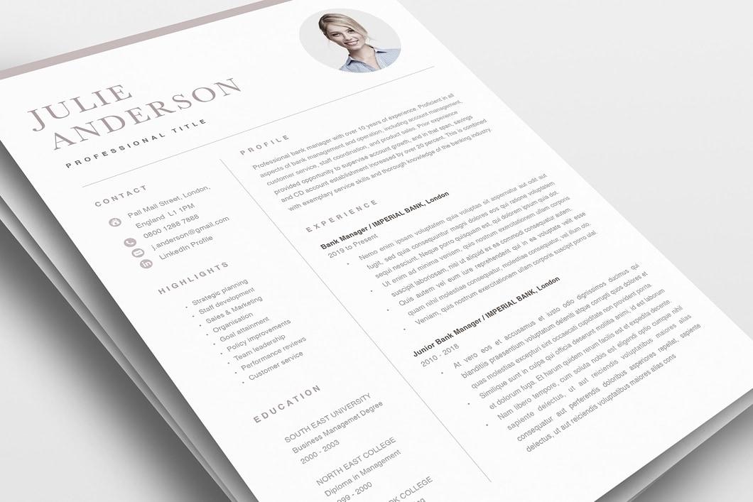 Modern Resume Template 120530 0
