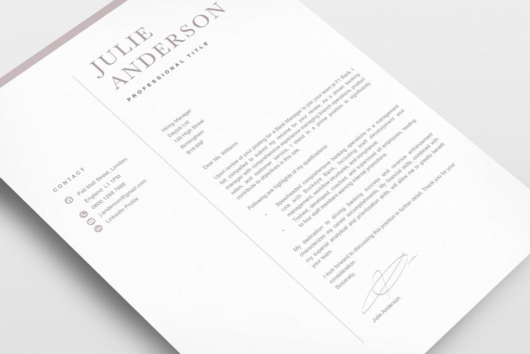 Modern Resume Template 120530 3