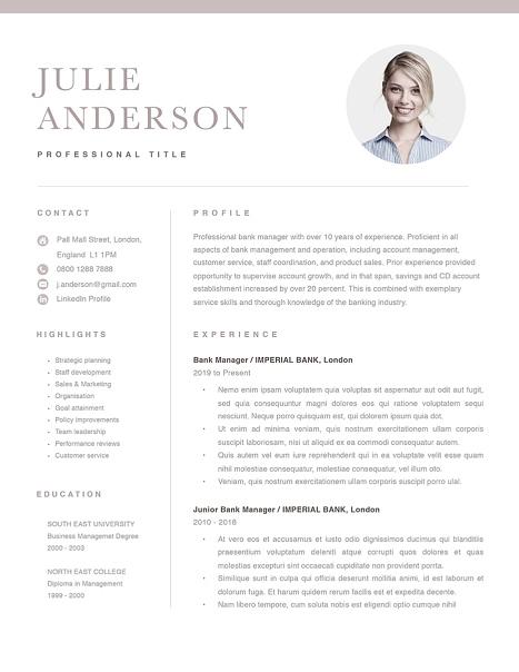 Modern Resume Template 120530
