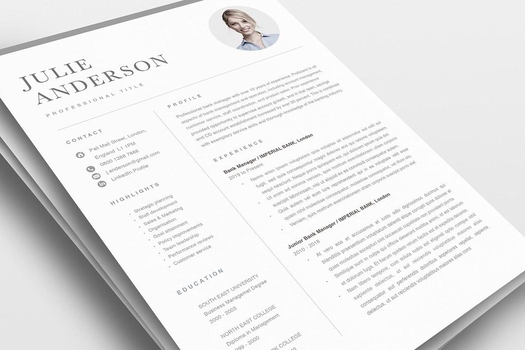 Modern Resume Template 120540 0