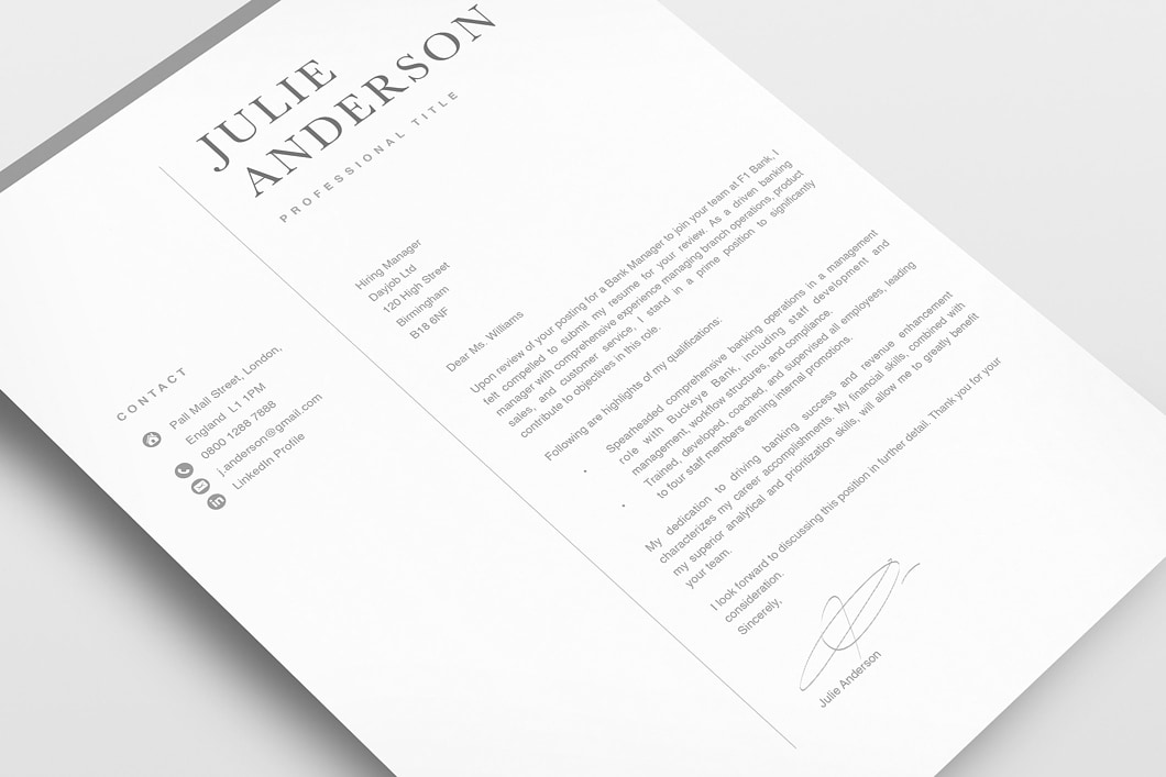 Modern Resume Template 120540 3