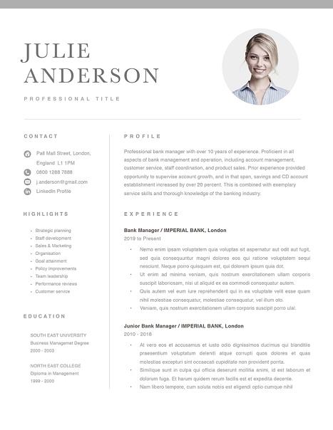 Modern Resume Template 120540